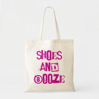 fun funky 'shoes & booze' reusable shopping bag