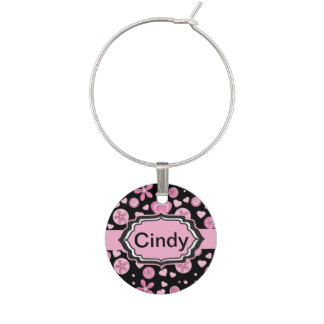Fun Funky Style Personalize Wine Charm