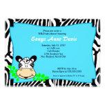 Fun & Funky Zebra Stripe 5x7 Baby Shower Invite