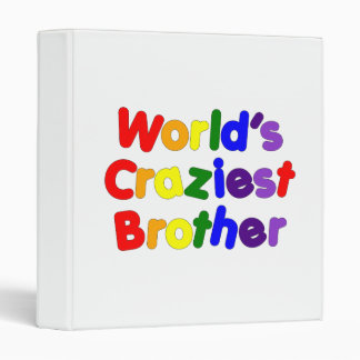 Fun Funny Brothers : World's Craziest Brother Vinyl Binders