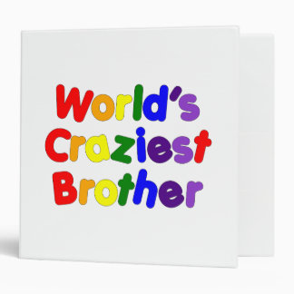 Fun Funny Brothers : World's Craziest Brother Binder