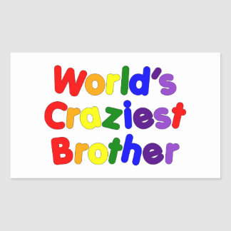 Fun Funny Brothers : World's Craziest Brother Stickers