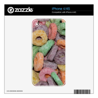 Fun Funny Cereal Food Pattern Decal For iPhone 4