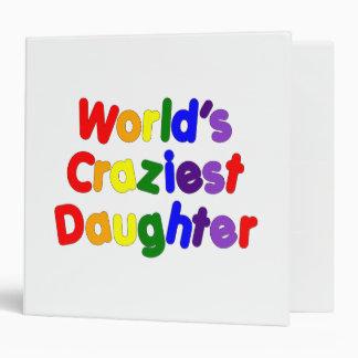 Fun Funny Daughters : World's Craziest Daughter Vinyl Binders