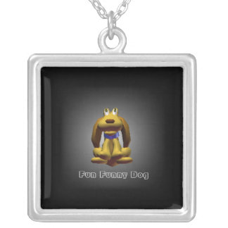 Fun Funny Doggy Silver Plated Necklace