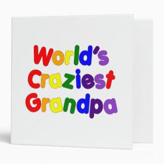 Fun Funny Grandfathers : World's Craziest Grandpa 3 Ring Binders