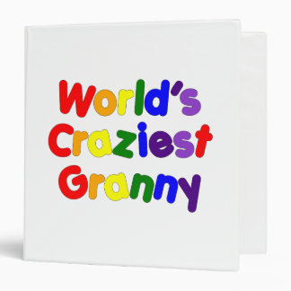 Fun Funny Grandmothers : World's Craziest Granny 3 Ring Binder