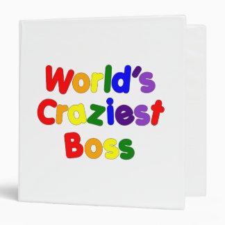 Fun Funny Humorous Bosses : World's Craziest Boss 3 Ring Binder