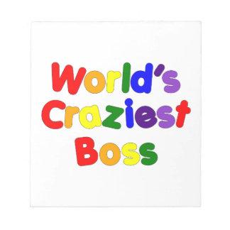 Fun Funny Humorous Bosses : World's Craziest Boss Memo Note Pads
