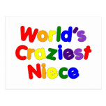 Fun Funny Humorous Nieces : World's Craziest Niece Postcard