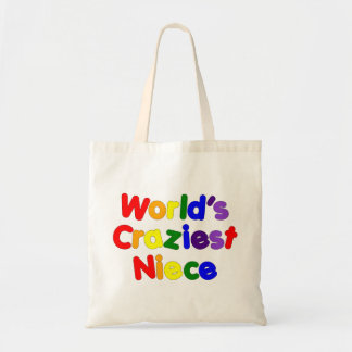 Fun Funny Humorous Nieces : World's Craziest Niece Tote Bag