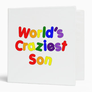 Fun Funny Humorous Sons : World's Craziest Son Vinyl Binders