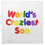 Fun Funny Humorous Sons : World's Craziest Son Printed Napkin