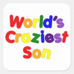 Fun Funny Humorous Sons : World's Craziest Son Sticker