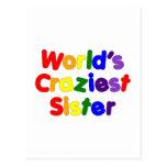 Fun Funny Sisters : World's Craziest Sister Postcard
