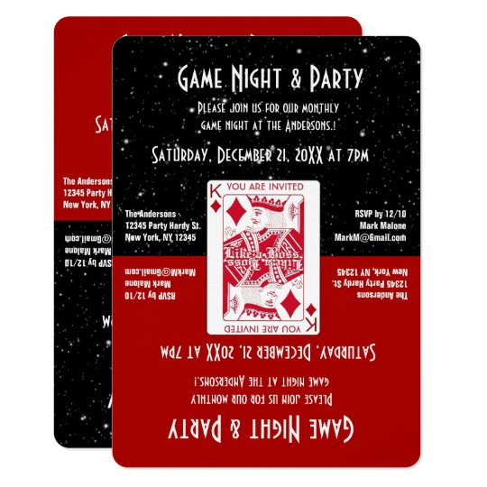 Fun Game Night Invitation Zazzle Com