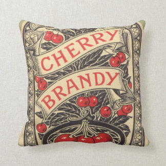 Fun Gameroom or bar Vintage cherry Brandy pillow