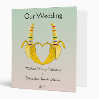 Fun Gay Banana Heart Wedding Planner Binder