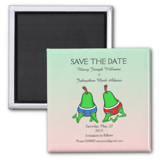 Fun Gay Pair Pear Save the Date Magnet