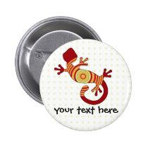 fun gecko pinback button