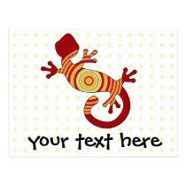 fun gecko postcard