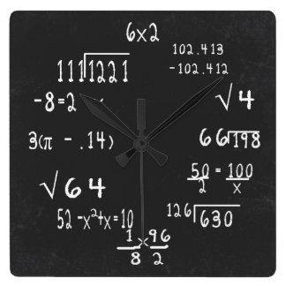 Fun Geek Math Square Wall Clock