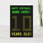 "[ Thumbnail: Fun, Geeky, Nerdy ""10 Years Old!"" Birthday Card ]"