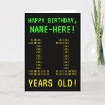 "[ Thumbnail: Fun, Geeky, Nerdy ""11 Years Old!"" Birthday Card ]"