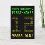 "[ Thumbnail: Fun, Geeky, Nerdy ""12 Years Old!"" Birthday Card ]"