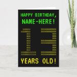 "[ Thumbnail: Fun, Geeky, Nerdy ""13 Years Old!"" Birthday Card ]"
