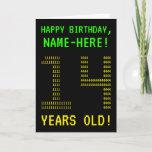"[ Thumbnail: Fun, Geeky, Nerdy ""14 Years Old!"" Birthday Card ]"