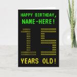 "[ Thumbnail: Fun, Geeky, Nerdy ""15 Years Old!"" Birthday Card ]"