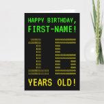 "[ Thumbnail: Fun, Geeky, Nerdy ""16 Years Old!"" Birthday Card ]"