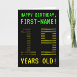 "[ Thumbnail: Fun, Geeky, Nerdy ""19 Years Old!"" Birthday Card ]"