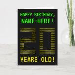 "[ Thumbnail: Fun, Geeky, Nerdy ""20 Years Old!"" Birthday Card ]"