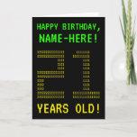 "[ Thumbnail: Fun, Geeky, Nerdy ""21 Years Old!"" Birthday Card ]"