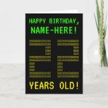 "[ Thumbnail: Fun, Geeky, Nerdy ""22 Years Old!"" Birthday Card ]"