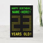 "[ Thumbnail: Fun, Geeky, Nerdy ""23 Years Old!"" Birthday Card ]"