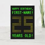 "[ Thumbnail: Fun, Geeky, Nerdy ""25 Years Old!"" Birthday Card ]"