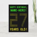 "[ Thumbnail: Fun, Geeky, Nerdy ""27 Years Old!"" Birthday Card ]"