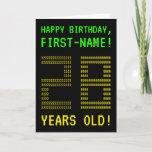 "[ Thumbnail: Fun, Geeky, Nerdy ""28 Years Old!"" Birthday Card ]"