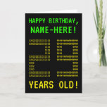 "[ Thumbnail: Fun, Geeky, Nerdy ""29 Years Old!"" Birthday Card ]"
