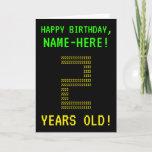 "[ Thumbnail: Fun, Geeky, Nerdy ""2 Years Old!"" Birthday Card ]"
