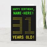 "[ Thumbnail: Fun, Geeky, Nerdy ""31 Years Old!"" Birthday Card ]"