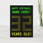 "[ Thumbnail: Fun, Geeky, Nerdy ""32 Years Old!"" Birthday Card ]"