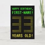 "[ Thumbnail: Fun, Geeky, Nerdy ""33 Years Old!"" Birthday Card ]"
