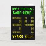 "[ Thumbnail: Fun, Geeky, Nerdy ""34 Years Old!"" Birthday Card ]"