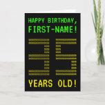 "[ Thumbnail: Fun, Geeky, Nerdy ""35 Years Old!"" Birthday Card ]"