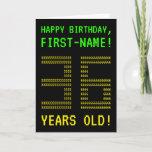 "[ Thumbnail: Fun, Geeky, Nerdy ""36 Years Old!"" Birthday Card ]"