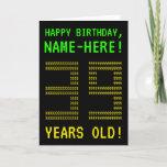 "[ Thumbnail: Fun, Geeky, Nerdy ""39 Years Old!"" Birthday Card ]"